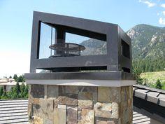 'Alpine Slope'chimney crown in Dk Bronze from Chimney King. Western Fireplace, Colorado Springs, Dane Threlkeld.