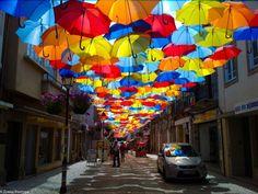 Umbrella Sky - Street Art Installation