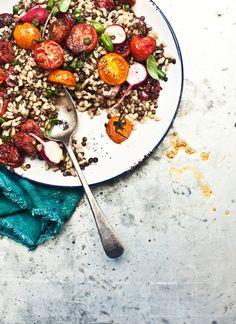Pearl Barley and Lentil Salad