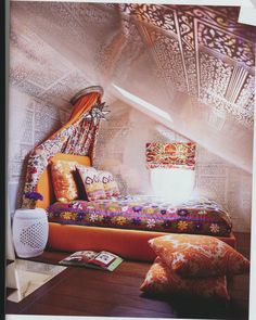 Indian inspired teen bedroom by Maine Design.