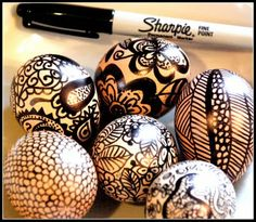 Inspirations: What happens when the fabulous insomniac from Homemade Serenity picks up a Sharpie and an egg...