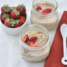 Coconut Strawberry Overnight Oats