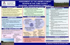 GPSC Student Showcase 2012: Assessment of the Unemployment Season in the Yuma County Seasonal Farm Worker Community