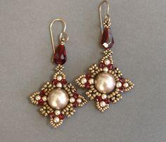 Sidonia's handmade jewelry - Oriental earrings Beading tutorial