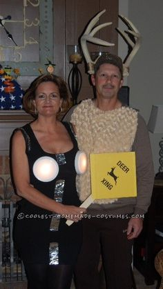 Deer Caught In Headlights Couple Costume... 2014 Halloween Costume Contest