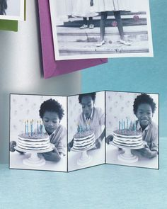 How-to: glittered photo birthday cards.