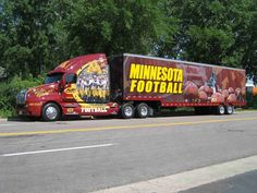 University of Minnesota Golden Gophers equipment transport for away football games