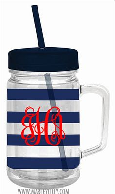 Monogrammed Double Wall Acrylic Cup