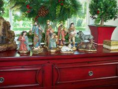 10 Piece Nativity H201239  coordinates with Lit Stone Creche.  Truly breathtaking. http://qvc.co/ShopValerie
