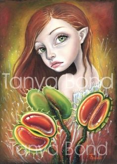 Flytrap Child - 5x7 print by Tanya Bond. Starting at $9 on Tophatter.com!