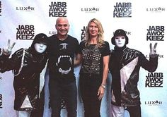 Tennis legends Andre Agassi and Steffi Graf attended PRiSM, the show by world-famous dance crew Jabbawockeez, which performs nightly at Luxor Hotel and Casino in Las Vegas on Aug 14, 2014