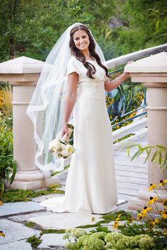 Real brides on pinterest 23 pins for Dolman sleeve wedding dress