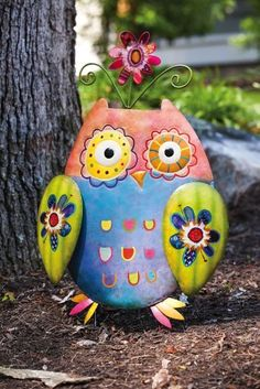 """Wild Garden Owl Yard Stake by Accent Your Life. $17.89. Approximate dimensions are 16.5"""" x 1"""" x 28"""". Made of metal. Great for yourself or as a gift. Hand painted. Easily stakes into the ground. This hand painted owl garden stake adds a bit of playful decoration to any outdoor space."""