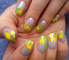Ducks in a Row Nails #easter