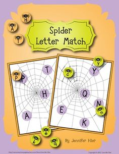 Fun spider letter match game