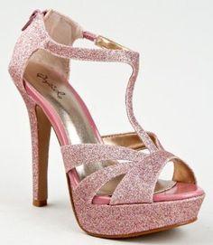 Qupid GAZE-187 Glitter Peep Toe T-Strap Platform High Heel Stiletto Party Sandal --- http://www.pinterest.com.tocool.in/5py
