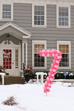 Love the balloon number for birthday parties!