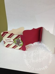 Stampin Up! Christmas Gift Card (inside)