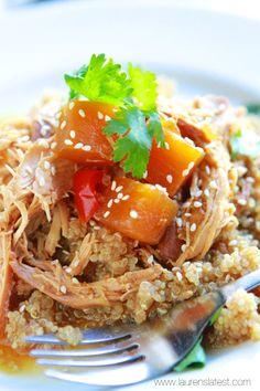 Crockpot Teriyaki Chicken over Quinoa Pilaf