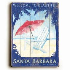 Welcome Santa Barbara 14x20 now featured on Fab.