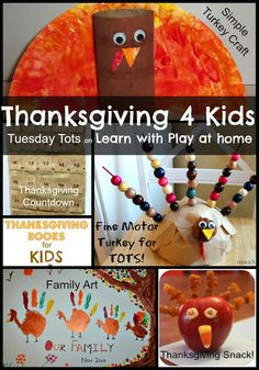 Thanksgiving 4 Kids. Fun activity ideas and book suggestions.