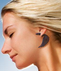 Fake Gauge Earrings  Bird of Happiness  Organic by PrimalOriginals, $23.00