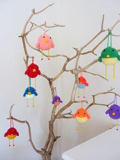 Crochet Easter Birds