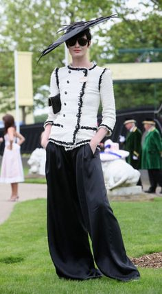 chanel, style, royal ascot, ladies day, erin oconnor, whitbi erinoconnor, diva, hat, formal outfits