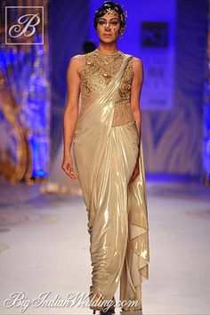 Gaurav Gupta designer stitched saree collection
