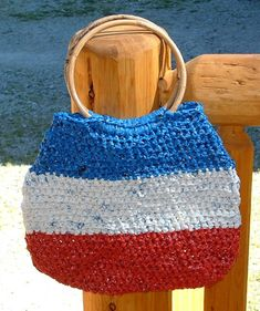 all-american  plarn handbag