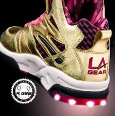 """The first """"light up"""" shoe! These were the coolest.  Love me some LA Gear"""
