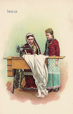 Singer Sewing Machine trade card India c. 1900