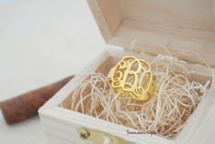 Monogram Ring  Personalized Monogram Ring  925 by YvonneBoutique, $34.00