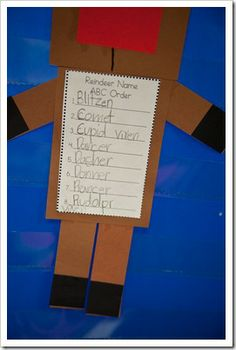 alphabetizing reindeer names