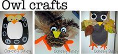 idea, oopsey daisi, owl crafts, art, daisies, lettersound preschool, owls, kid, toddler craft