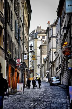 A Geneva Street, Canton of Geneva, Switzerland