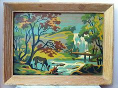 paint by number deer painting