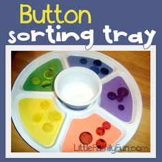 Button sorting activity for Preschoolers.