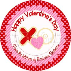 VALENTINE COOKIE favor tags  YOU Print  3 by PrettyPartyCreations, $6.25