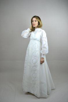 70s wedding dress 1970s wedding dress floriana 178 00 via etsy