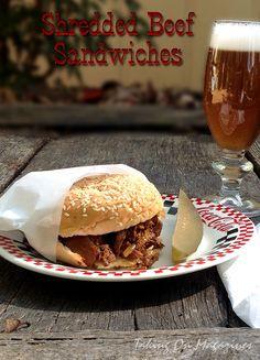 Shredded Beef Sandwiches ~ slow cooker goodness | Taking On Magazines | www.takingonmagazines.com