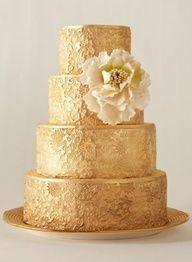 Gold Wedding #Cake #wedding, #weddings, www.finditforwedd...