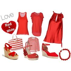 red, style, white