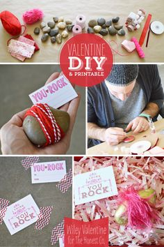 You Rock, Valentine! Wiley Valentine stopped by the Honest blog to share this unique DIY & printable. #valentine2013