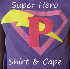 hero shirt, costum, super hero, kids diy, kid gifts, capes, diy gifts, easi kid, superhero cape