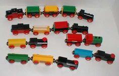 BRIO trains.