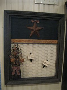 Message Board!  with chicken wire~~