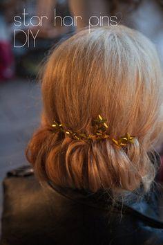 Gold Star Bobbi Pin DIY - cheap and easy!