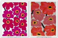 marimekko & diy poppy print on ceramic...pattern