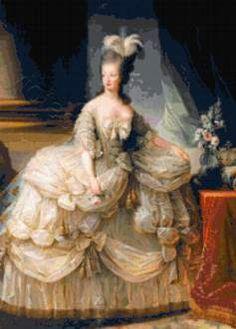 victorian lady cross stitch